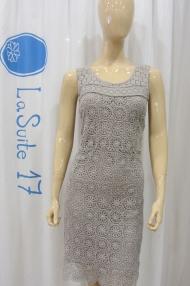 Vestido corto tirantes Crochet by LOA