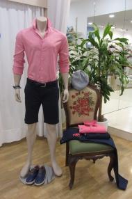 Camisa manga larga, bermudas, cinturón y calzado by Fyord
